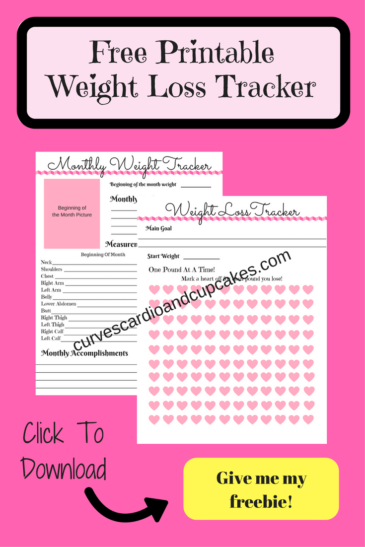 Free Weight Loss Tracker - Curves Cardio And Cupcakes