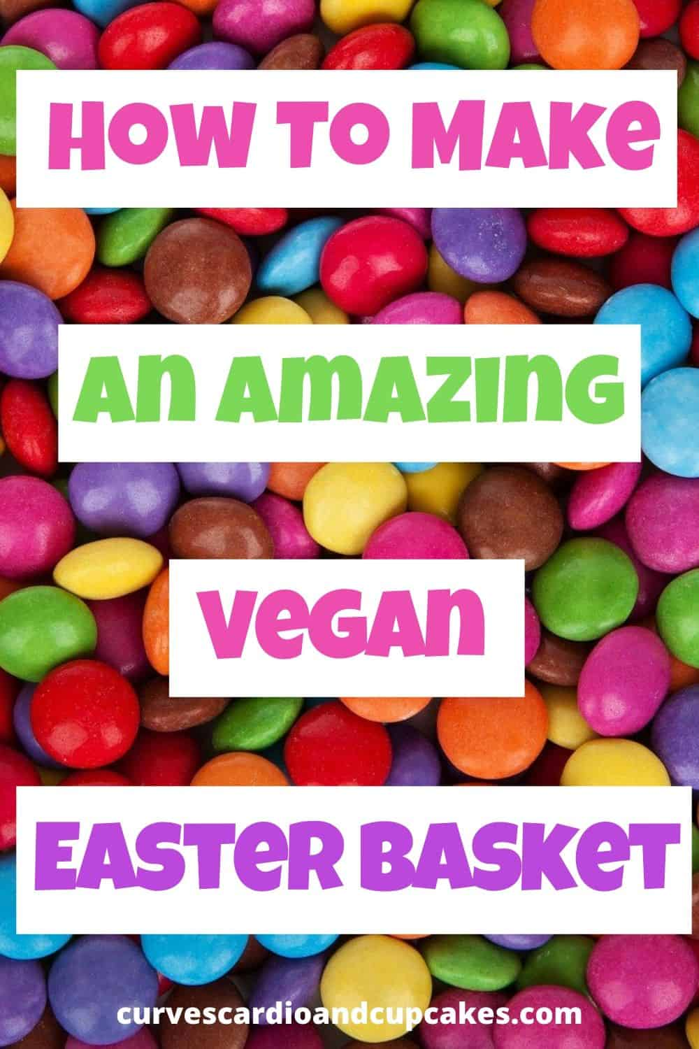 How to make an awesome vegan Easter basket with the best vegan treats and non-food items. Vegan Easter traditions can be fun for the whole family with these cute, creative plant based homemade DIY vegan Easter basket ideas. Where to buy a vegan Easter basket. Candy, chocolate bunny, food treats, and creative non food ideas for girls, boys, men, and women. #veganeaster #veganeasterbasket