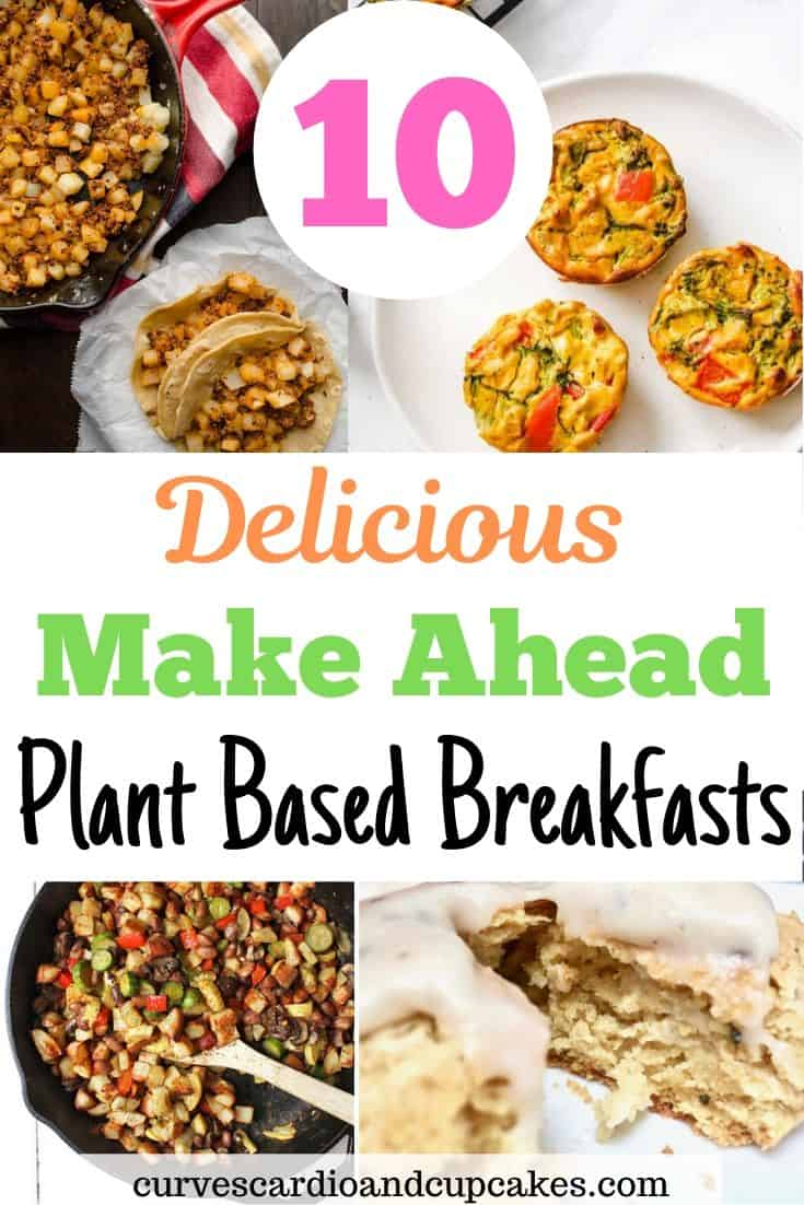 Awesome make ahead plant based breakfast ideas perfect for weekly meal prep and vegan meal planning. Prepare a hot plant based breakfast for work or school with these simple vegan breakfast recipes that include pancakes, veggies, protein, potatoes.  Perfect for busy mornings or brunch on the weekend.  Dairy free and eggless breakfast ideas that are healthy, quick and easy.