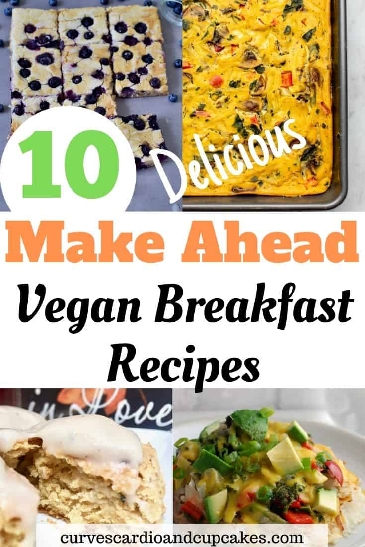 The best vegan make ahead breakfast ideas for weekly meal prep for a quick and easy breakfast on the go in the mornings.  Vegan breakfast recipes that are fast to reheat and delicious and simple meals for families, for one, or for a crowd at a potluck.  Savory and sweet breakfasts like casseroles, tofu scrambles, sandwiches, hashbrowns served warm or hot.
